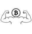 the concept of strong bitcoin vector image