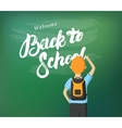 Back to School hand written lettering calligraphy vector image