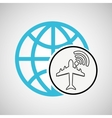 connection concetp globe airport wifi vector image