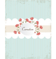 Vintage carnations background vector image vector image