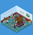 historical museum isometric vector image