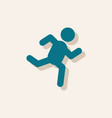 sprinter icon man run silhouette in sticker style vector image