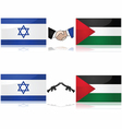 Israel and Palestine vector image vector image