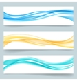 Abstract swoosh smooth wavy line headers or vector image