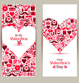 banners set of Valentine Day vector image