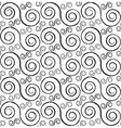 Black and white styled spirals seamless pattern vector image