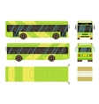 city bus in different view positions vector image