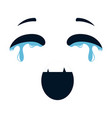 crying face emoji character vector image