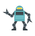 funny robot in flat style vector image