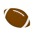 Rugby ball isometric 3d icon vector image