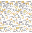 seamless floral pattern cute spring background vector image