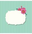 Vintage Label With Sakura Flowers vector image