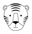 wild tiger head icon vector image