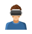 Man with Virtual Reality Headset Icon vector image