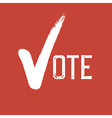 Voting Symbol On red background vector image