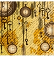 Antique background with manuscript and clocks vector image vector image