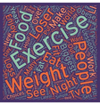 Lessons From The Biggest Loser text background vector image