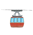 Cable-car on ropeway vector image