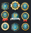 vip golden label collection vector image