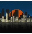 Cityscape at night vector image