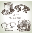 Sketch gentlemen accessories Hand drawn men set vector image
