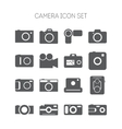 Set of simple icons with cameras for web design vector image