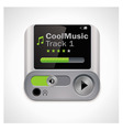 vector mp3 player xxl icon vector image