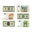 fake dollars and euro vector image