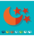 Flat design full moon vector image