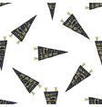 Hand drawn pennants seamless pattern with vector image