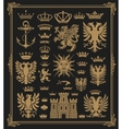 Mega pack of Heraldic Elements with baroque frame vector image