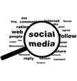 Social media highlight vector image
