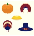 Thanksgiving set of icons vector image