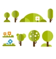 Trendy and Beautiful set of Flat Forest Elements vector image