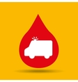 emergency ambulance hands care medical icon vector image