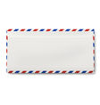 View of backside of sealed DL air mail envelope vector image