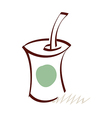 icon drink vector image