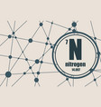 nitrogen chemical element vector image