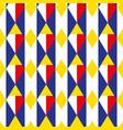 Rhombus geometric seamless pattern cage endless vector image