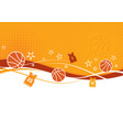 basketball background with jerseys vector image vector image