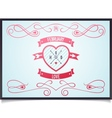 Poster with heart for Valentines Day vector image