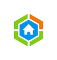 house protection secure abstract logo vector image vector image