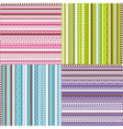 colored set of patterns vector image
