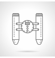 Remote control device flat line icon vector image