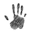 handprint of yakuza vector image