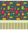 Cute colorful menu template vector image vector image