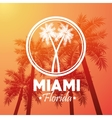 Palm tree icon Miami florida design vector image
