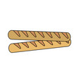 baguette french bread vector image