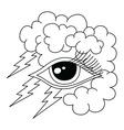 bolt lightning eye symbol theme vector image
