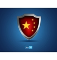china shield on the blue background vector image